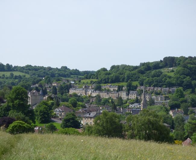 Vue panoramique sur Bath
